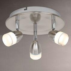 Buy John Lewis & Partners Avenger LED 3 Spotlight Ceiling Plate, Chrome from our Ceiling Lighting range at John Lewis & Partners. Incandescent Bulbs, Chrome Finish, John Lewis, Track Lighting, Spotlight, Avengers, Ceiling Lights, Plates, Led