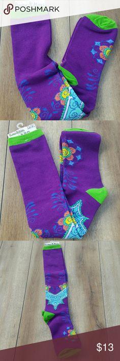 HENNA BEAUTIFUL SOCKS Peony and moss socks HENNA one size brand new Peony and Moss Accessories Hosiery & Socks
