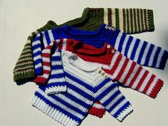 Ravelry: Little Sailor Striped Pullover pattern by Michele  DuNaier $4.00