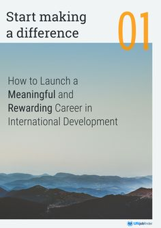 Ebook cover: Start Making a Difference