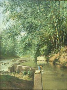 Nasbahry-Paint: G. Landscape Wallpaper, Landscape Art, Landscape Paintings, Amazing Photography, Landscape Photography, Nature Photography, Great Paintings, Nature Paintings, Bali Painting
