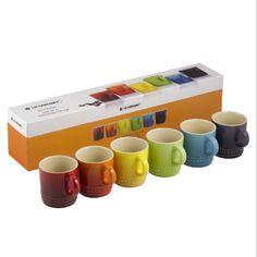Le Creuset Stoneware Rainbow Espresso Mugs - Set of 6 Le ... https://www.amazon.co.uk/dp/B00HNP43US/ref=cm_sw_r_pi_dp_x_-RNFybWQJE884