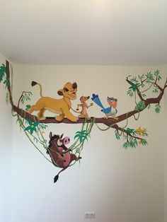 wall painting for baby room wall painting for baby room Disney Baby Rooms, Disney Playroom, Disney Bedrooms, Disney Nursery, Lion King Room, Lion King Nursery, Lion King Baby, Baby Room Paintings, Room Wall Painting