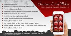 Christmas Greetings && Merry Christmas Cards iOS App (Objective-C / X-Code) - Price $29