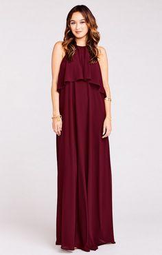 showmeyourmumu burgundy maxi bridesmaid dress