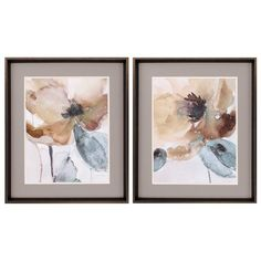 Alcott Hill 'Watercolor Poppy' - 2 Piece Picture Frame Graphic Art Print Set on Paper Metal Wall Art, Framed Wall Art, Framed Prints, Painting Frames, Painting Prints, Art Prints, Watercolor Poppies, Watercolour Paintings, Wall Art Sets
