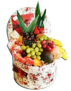 Sombrerera flores frutas estilazo.com