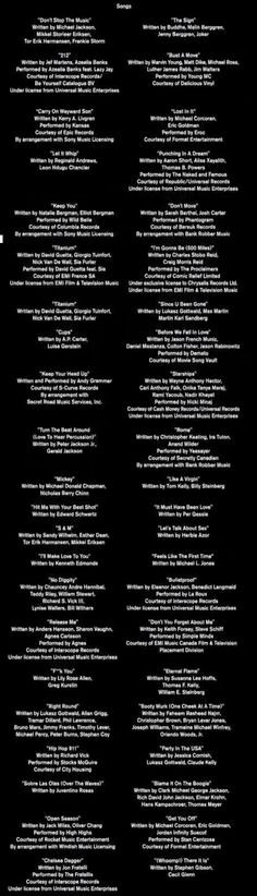 All the pitch perfect songs excuse some of the not so great ones! Thank ya!