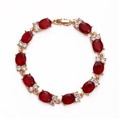 Bracelets & Bangles 2017 New Design Red AAA Zircon Bracelet Women Bracelet Fashion Jewelry