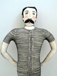 Le Nageur Moustachu en maillot rayé - un radis m'a dit - : Jeux, jouets par un-radis-m-a-dit  https://www.facebook.com/clairefabrications
