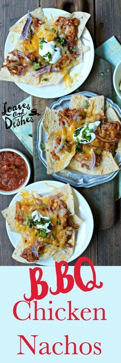 These FAST and EASY BBQ Chicken Nachos is the perfect weeknight meal for when you have a TON to do but want a delicious dinner!  GIVEAWAY on this post!