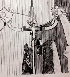 Bike vision black spherographic handmade draw BY me 2014. Suzanna Paulla Bomfim
