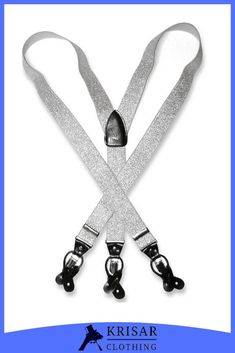 New Y back Men/'s Vesuvio Napoli Suspenders Braces clip on Brown White Leopard