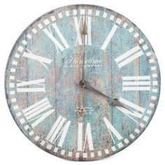 Antique Blue Round Wall Clock | Shop Hobby Lobby....@lillysmommy81 potential for above my sectional........hobby lobby monday? lol....