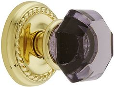 Purple glass doorknob, grand entrance to a princess' bed chambers.