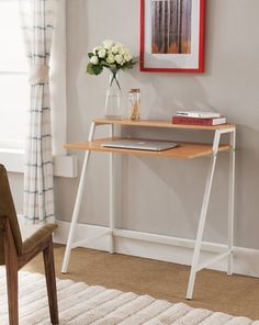"""Get it from Amazon for $78.08.Promising review: """"Arrived in perfect condition, great instructions, very quick & easy assembly. Couldn't be more satisfied."""" —Amazon CustomerGet a similar desk in espresso and gunmetal from Amazon for $43.32."""