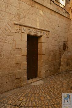 *VIA DOLOROSA 5th STATION ~ Simon of Cyrene helps Jesus to carry his cross