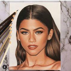 pencil art OMG chriz_owen_arts its amazing Pencil Art Drawings, Realistic Drawings, Colorful Drawings, Art Drawings Sketches, Colored Pencil Portrait, Color Pencil Art, Celebrity Drawings, Zendaya, Art Sketchbook