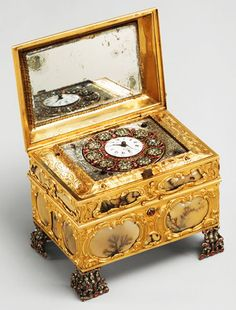 Nécessaire incorporating an automaton watch ca 1770–72, signed by James Cox.