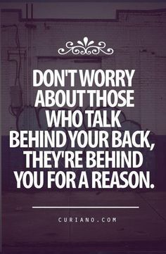 And don't look back.