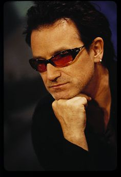 Bono U2 - I loved seeing them play in this he 80's Amnesty