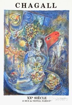 XX Siecle Collectable Print by Marc Chagall - AllPosters.co.uk