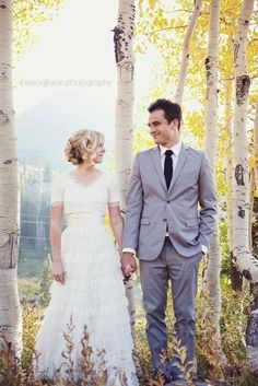 Awww the aspens, the leaves... Why couldn't I have waited to get married in the fall?