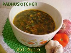 Palak dal (lentils and spinach)