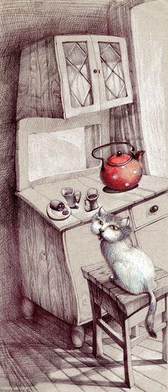 Cat - Мало-о-о! - Tatyana Popovichenko #tea