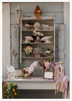 rustic french accessories for guest book table