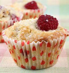 Sugar- Crusted Fresh Raspberry Muffins #recipe