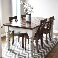 Fabulous Farmhouse Table DIY Project - I think I could do this with my table