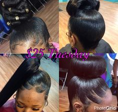 Cute Ponytails For Short Black Hair - Hairstyle Collection Awesome - Baby Dope Hairstyles, My Hairstyle, Black Girls Hairstyles, Ponytail Hairstyles, Weave Hairstyles, Updos, Cute Ponytails, Ponytail Styles, Bun Styles