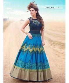 Latest Blue Designer Gown  http://www.kmozi.com/latest-blue-designer-gown-893