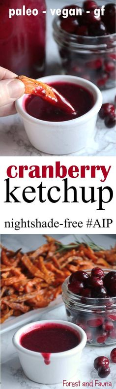 Ive been pretty obsessed with cranberries lately! I mean they make such fabulous nightshade-free sauces like this cranberry ketchup (and my cranberry BBQ sauce featured in the new AIP Instant Pot Cookbook) its kinda hard not to get a little obsessed! Ketchup, Autoimmune Diet, Aip Diet, Sin Gluten, Vegan Gluten Free, Paleo Vegan, Dairy Free, Healthy Recipes, Cooking Recipes