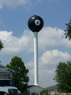 eight ball water tower, tipton missouri