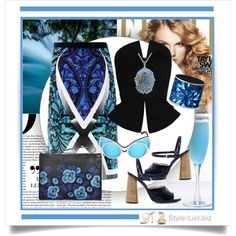 Shades of Blue Outfit by http://style-list.biz  Join us on Facebook to get updates: https://www.facebook.com/stylelist.biz