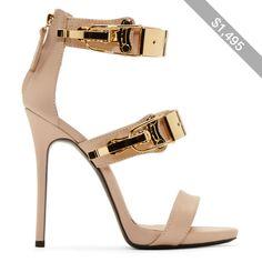 Giuseppe Zanotti Nude Pink Leather Coline Stiletto Sandals