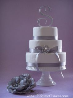 Wedding cake  Cake by thesweettastes...even the right initial ;)