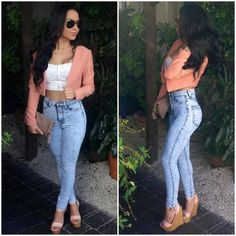 20 Style Tips On How To Wear High-Waisted Jeans, Outfit Ideas ...