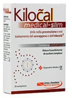 KILOCAL MEDICAL SLIM 30CPR Questo integratore è stato studiato al fine di ridurre l'assorbimento dei carboidrati complessi (pane, pasta, riso, grissini, pizza,ecc) per diminuire l'impatto calorico del pasto.
