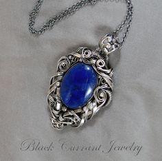 Lapis Lasuli in Sterling Silver by blackcurrantjewelry.deviantart.com on @deviantART