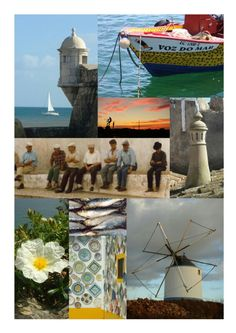 Poster print by Inspirina photographers Robyne and Duncan Greener Algarve montage.