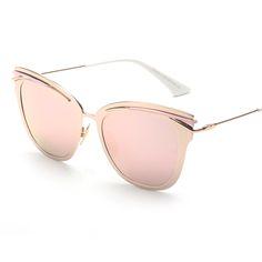 2017 de Lujo de la Aleación Del Ojo de Gato gafas de Sol Acogedor Shades  Hombres Mujeres Marca Diseñador Gafas Gafas de Sol Oculos H817 de brand cat  eye ... 227fe1ba432a
