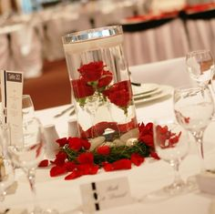 Wedding Centerpiece Ideas | ... style and wedding ideas: Cold Wedding With Snow Red Centerpieces Ideas
