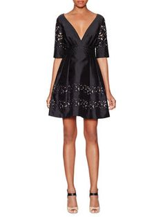 Luz Silk V-Neck Dress from Up to 80% Off: Temperley London on Gilt