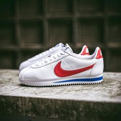 "Nike Cortez Classic Leather ""Forrest Gump"" available at www.streetsupply.pl"