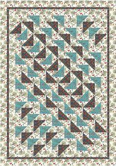 Quilt Pattern  Birds of a Feather  53 x 76 by QuiltPatternsDesigns