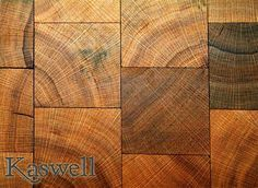 Kaswell Flooring Systems Wood Block Flooring: Ageless End-Grain® Wet Recovered Red Oak    Ageless End-Grain® Wet Recovered Red Oak