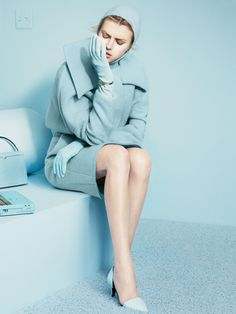 Pastel power colors coats for winter 2013-14. The New York Times T Style Magazine Fall 2013